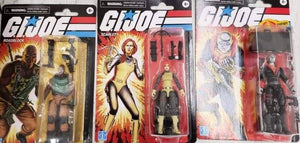 "(Hasbro) (Pre-Order) Exclusives G.I.JOE 3.75"" RETRO FIGURES AST Wave 2 Case of 6. (Road Block, Destro and Scarlett)"