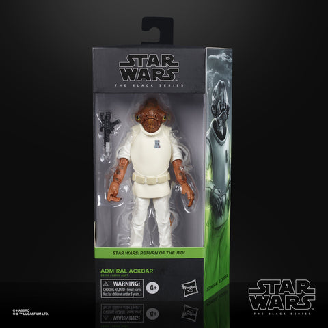 Image of (Hasbro) Star Wars The Black Series Admiral Ackbar Collectible Figure