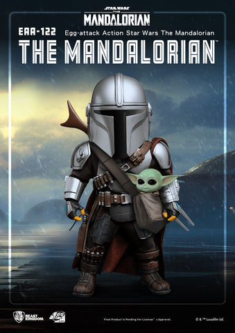(Beast Kingdom) (Pre-Order) The Mandalorian Egg Attack Action EAA-122 The Mandalorian Figure - Deposit Only