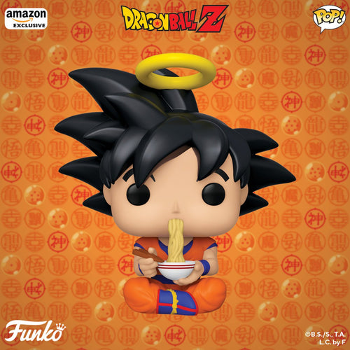 (Funko Pop) Dragonball-Z - Goku Eating Noodles, Amazon Exclusive with Free Protector