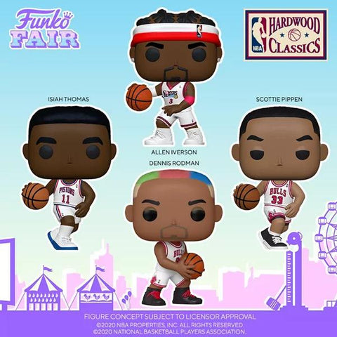 Image of (Funko Pop) Pop! NBA: Legends - Dennis Rodman (Bulls Home) with Free Boss Protector