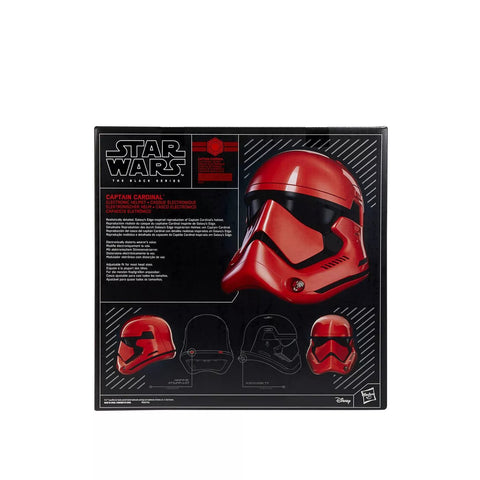 Image of (Hasbro) Star Wars The Black Series Galaxy's Edge Captain Cardinal Electronic Helmet
