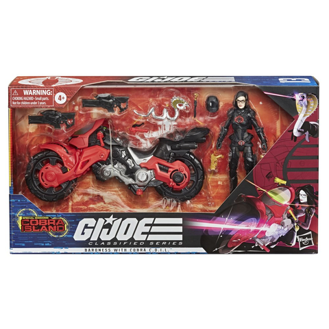 Image of (Hasbro) GIJOE Classified Series Baroness with Cobra Coil