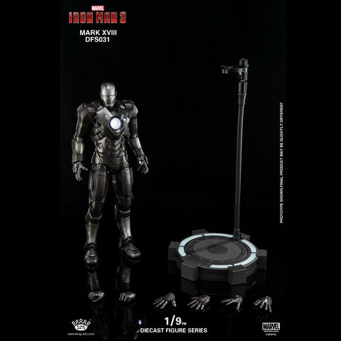 (King Arts) (Pre-Order)Iron Man Mark 18 - 1/9 Scale Diecast Figure DFS031 - Deposit Only