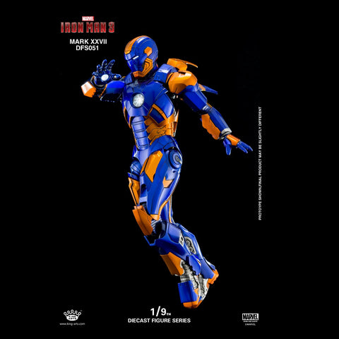 (King Arts) (Pre-Order) Iron Man Mark 27 - 1/9 Scale Diecast Figure DFS051 - Deposit Only