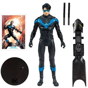 (Mc Farlane) DC Collector Wave 1 Nightwing Better than Batman 7-Inch Action Figure (Build-A-Batmobile)