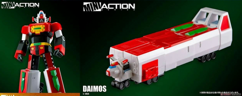 (Action Toys Robot Series) Mini Action Daimos - 6 inches Tall