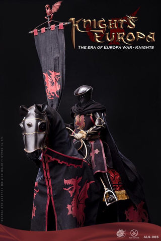 Image of (POPTOYS) (PRE-ORDER) 1/6 ALS007 Armor Legend Series-The Era of Europa War Black armor horse - DEPOSIT ONLY