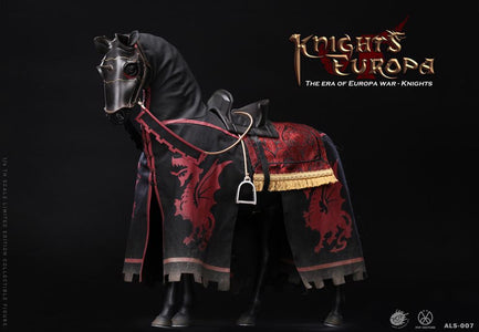 (POPTOYS) (PRE-ORDER) 1/6 ALS007 Armor Legend Series-The Era of Europa War Black armor horse - DEPOSIT ONLY