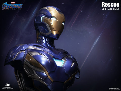 (Queen Studios) (Pre-Order) Life Size Iron man Mark 49 Rescue Armor Bust - Deposit Only