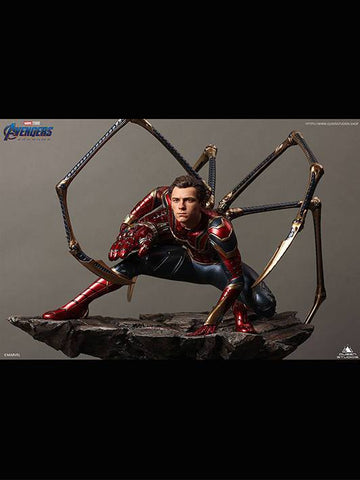 (Queen Studios) (Pre-Order) Iron Spiderman 1/4 Scale Premium Statue - Deposit Only