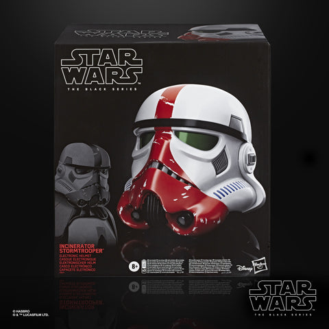 (Hasbro) Star Wars The Black Series The Mandalorian Incinerator Stormtrooper Electronic Voice-Changer Helmet