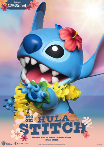 (Beast Kingdom) (Pre-Order) MC-031 Lilo & Stitch Master Craft Hula Stitch - Deposit Only