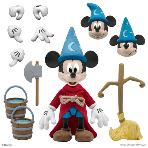 Image of (Super 7) (Pre-Order) Disney Ultimates Fantasia Sorcerer's Apprentice Mickey Mouse Action Figure - Deposit Only