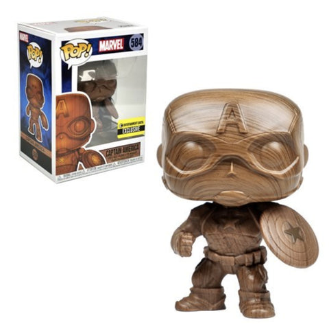 (Funko Pop) Captain America Wood Deco Pop! Vinyl Figure - Exclusive