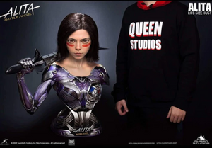 (Queen Studios) (Pre-Order) Alita Battle Angel 1:1 Life-size Bust