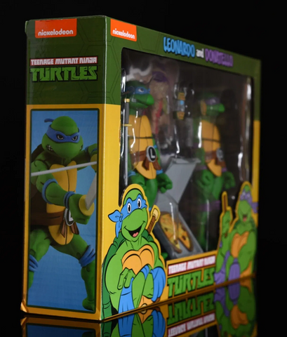 (NECA) Teenage Mutant Ninja Turtles Leonardo & Donatello Exclusive Action Figure 2-Pack