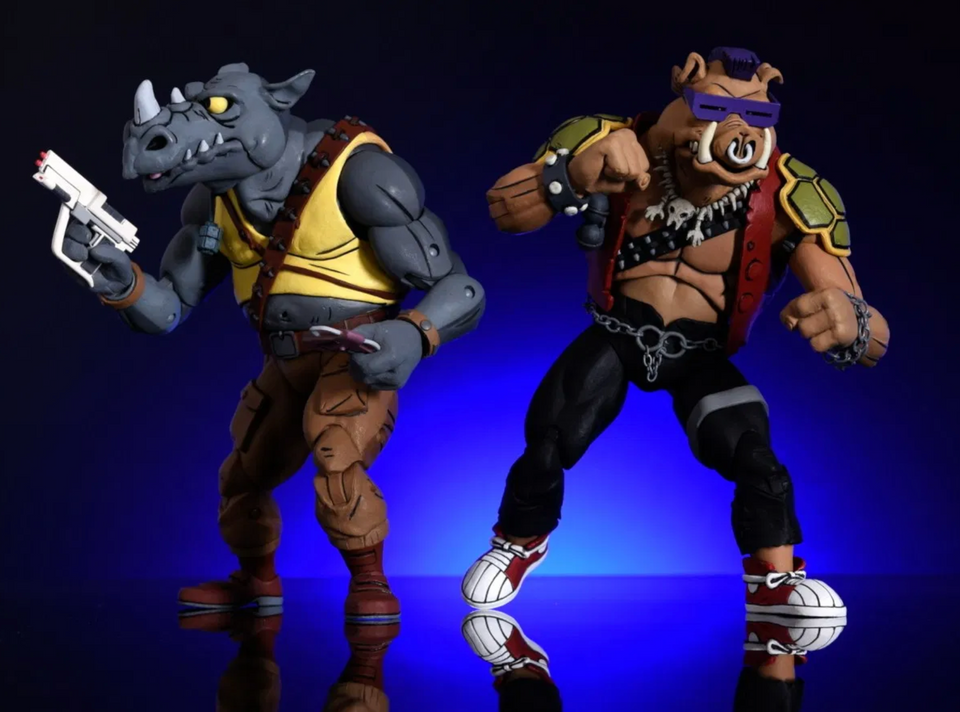 (NECA) Teenage Mutant Ninja Turtles Bebop and Rocksteady Exclusive Action Figure 2-Pack