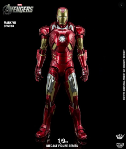 (King Arts) Iron Man Mark 7 - 1/9 Scale Diecast Figure DFS013