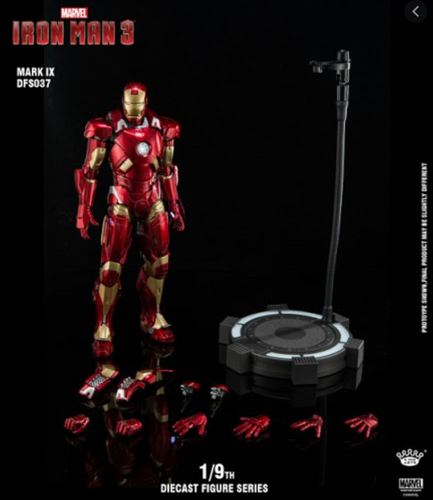 (King Arts) Iron Man Mark 9 - 1/9 Scale Diecast Figure DFS037