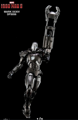 (King Arts) (Pre-Order) Iron Man Mark 34 - 1/9 Scale Diecast Figure DFS056 - Deposit Only