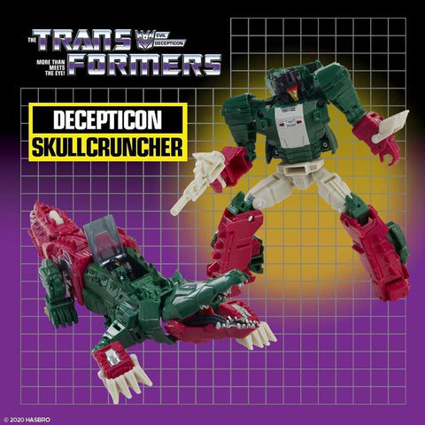 Image of (HASBRO) Transformers Generations DELUXE HEADMASTERS RETRO Wave 2 SKULLCRUNCHER