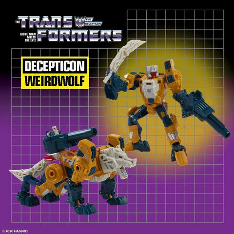 (HASBRO) Transformers Generations DELUXE HEADMASTERS RETRO Wave 2 WEIRDWOLF