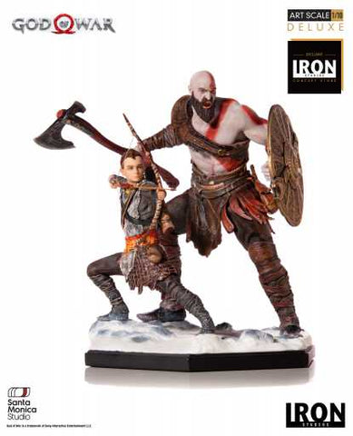 (Iron Studios) (Pre-Order) Kratos and Atreus Deluxe Art Scale 1/10 - God of War - Deposit Only