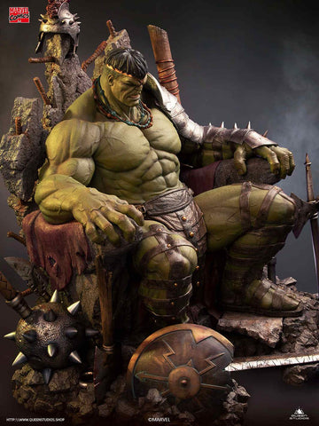 (Queen Studios) (Pre-Order) Green Scar Hulk 1/4 Statue (Marvel Comics) Premium Version - Deposit Onnly