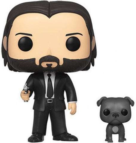 Image of (Funko Pop) JOHN WICK IN BLACK SUIT W/ DOG BUDDY with Free Protector