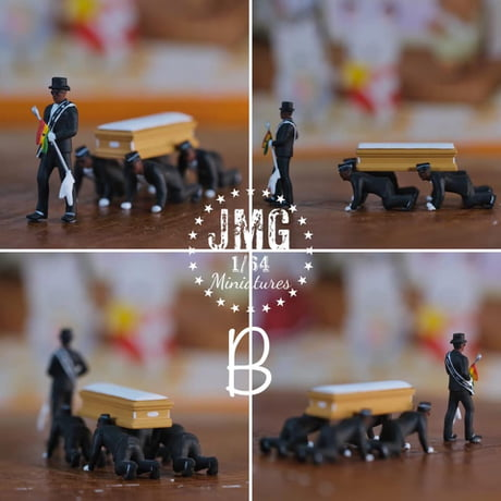 (JMG) (Pre-Order) 1/64 Miniatures-African Coffin Dance Style A or B - Deposit