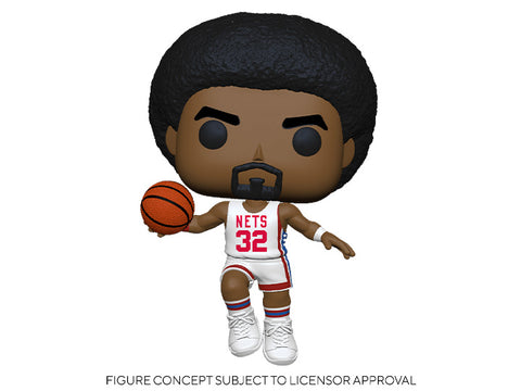 Image of (Funko Pop) Pop! NBA Legends - Julius Erving (Nets Home) with Free Boss Protector
