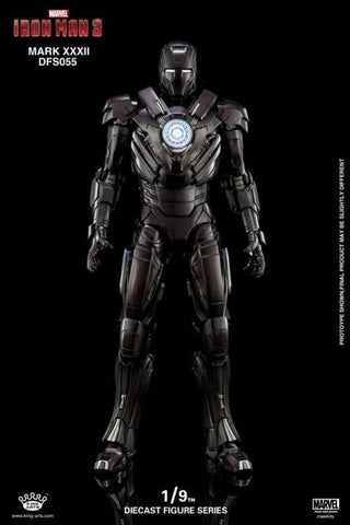 (King Arts) (Pre-Order) Iron Man Mark 32 - 1/9 Scale Diecast Figure DFS055 - Deposit Only