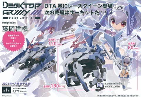 (MegaHouse) (Pre-Order) DESKTOP ARMY  F-616s FREA NABBIT & Machine Fenryl - Deposit Only