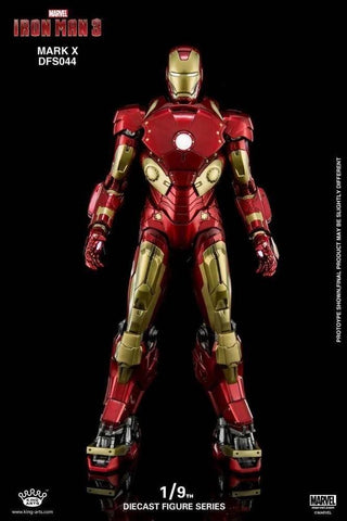 (King Arts) (Pre-Order) Iron Man Mark 10 - 1/9 Scale Diecast Figure DFS044 - Deposit Only
