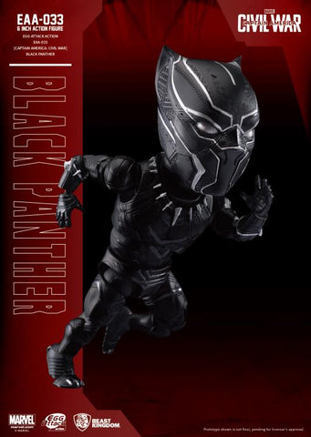 Image of (Beast Kingdom) (Pre-Order) EAA-033 Captain America Civil War Black Panther - Deposit Only