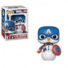 Image of (Funko Pop) POP MARVEL: Holiday Captain America with Free Protector