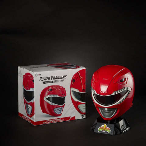 Image of (Hasbro) Power Rangers Collection Premium Red Ranger Helmet Prop Replica
