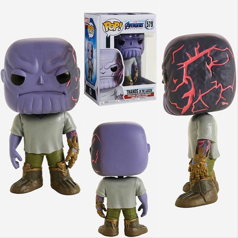 Image of (Funko Pop) Pop Marvel Endgame Thanos in the Garden with Free Protector