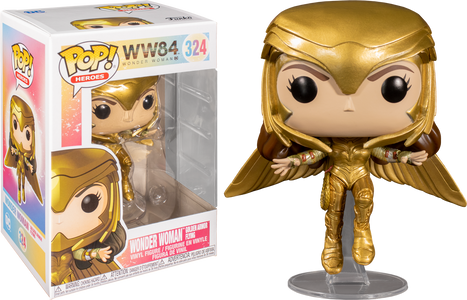 (Funko Pop) Pop WW 1984 Wonder Woman Gold Armour Flying Pose with Free Protector