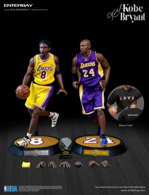 (ENTERBAY) (Pre-Order) Kobe Bryant 1/6 Scale Figure Upgraded Version - Deposit Only