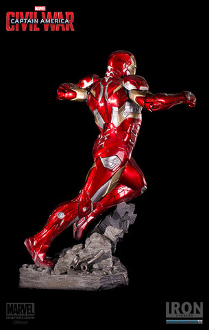 Image of (Iron Studios)  Captain America: Civil War Legacy Replica Iron Man XLVI 1/4 Scale Statue (Back in Box/Displayed)