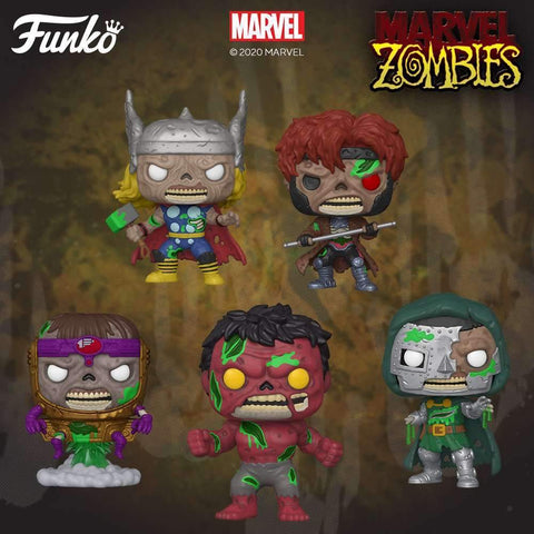 Image of (Funko Pop) Pop! Marvel: Marvel Zombies (Series 2) - Thor with Free Boss Protector