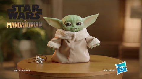 (Hasbro)The Mandalorian's Baby Yoda Comes to Life in Actual-Size Animatronic Toy