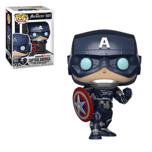(Funko Pop) Pop Marvel Avengers Games Captain America with Free Protector
