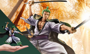 "(MEGAHOUSE) (PRE-ORDER) Portrait.Of.Pirates ONE PIECE""Warriors Alliance"" ZORO JURO CASE OF 4 + 1/144 RM PTOLEMAIOS CONTAINER  - DEPOSIT ONLY"