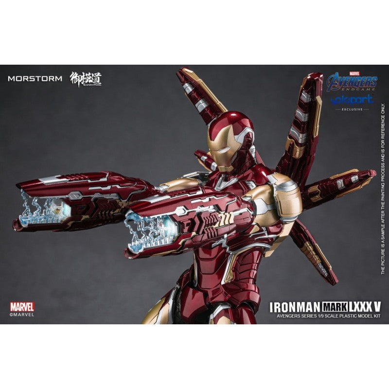 (Morstorm x Eastern Model) (Pre-Order) IRON MAN MK85 (Painted PLAMO) Deluxe Version (Yolopark Exclusive Model Kits) - Deposit only