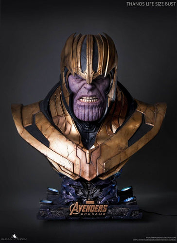 (Queen Studios) (Pre-Order) THANOS - ENDGAME LIFESIZE 1:1 SCALE BUST - Deposit Only