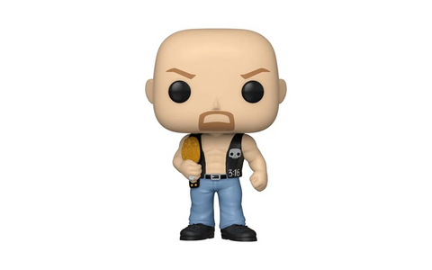 (Funko Pop) Pop! WWE: Stone Cold Steve Austin (With Belt) with Free Boss Protector