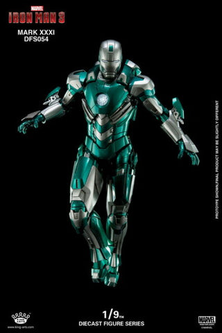 (King Arts) (Pre-Order) Iron Man Mark 31 - 1/9 Scale Diecast Figure DFS054 - Deposit Only